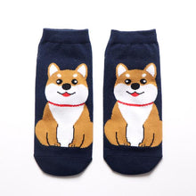 Load image into Gallery viewer, Womens Ankle Length Socks for Dog LoversSocksAkita / Shiba Inu
