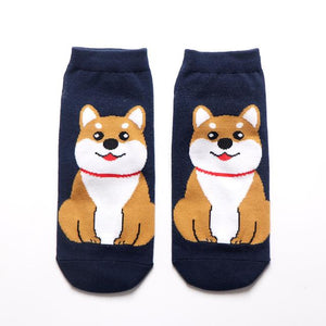 Womens Ankle Length Socks for Dog LoversSocksAkita / Shiba Inu