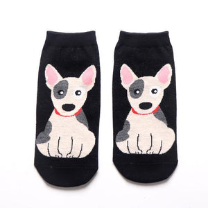 Womens Ankle Length Socks for Dog LoversSocksBull Terrier