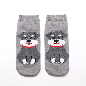 Womens Ankle Length Socks for Dog LoversSocksMini Schnauzer