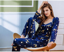 Load image into Gallery viewer, Yellow-Gold Dalmatian Pajama SetPajamas