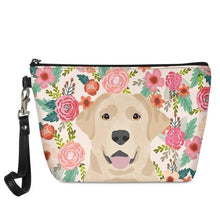 Load image into Gallery viewer, Yellow Labrador in Bloom Make Up BagAccessoriesLabrador