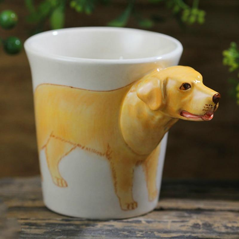 Yellow Labrador Love 3D Ceramic CupMug