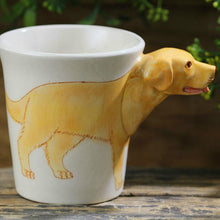 Load image into Gallery viewer, Yellow Labrador Love 3D Ceramic CupMug