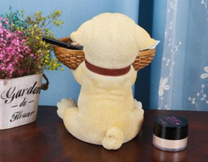 Yellow Labrador Love Tabletop Organiser & Piggy Bank StatueHome Decor