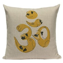 Load image into Gallery viewer, Yoga Basset Hound Cushion CoverCushion CoverOne SizePug - Om Sign