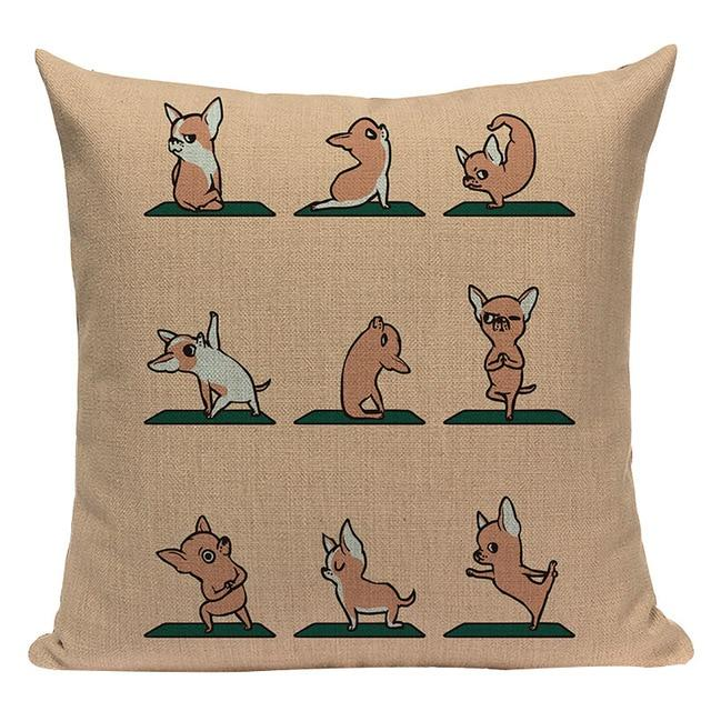 Yoga Chihuahua Cushion CoverCushion CoverOne SizeChihuahua