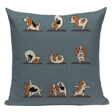Load image into Gallery viewer, Yoga Pugs Cushion CoversCushion CoverOne SizeBasset Hound