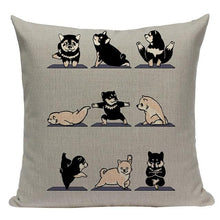 Load image into Gallery viewer, Yoga Pugs Cushion CoversCushion CoverOne SizeShiba Inu