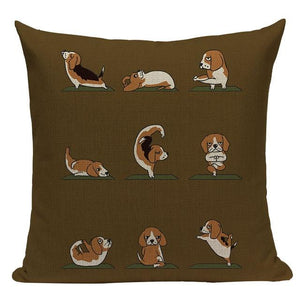 Yoga Rottweiler Cushion CoverCushion CoverOne SizeBeagle