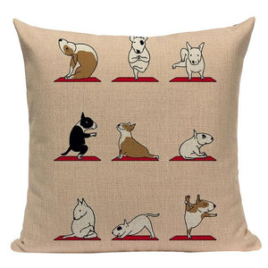 Yoga Rottweiler Cushion CoverCushion CoverOne SizeBull Terrier