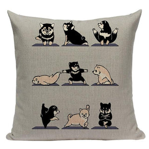 Yoga Rottweiler Cushion CoverCushion CoverOne SizeShiba Inu