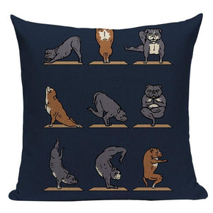 Yoga Rottweiler Cushion CoverCushion CoverOne SizeStaffordshire Bull Terrier