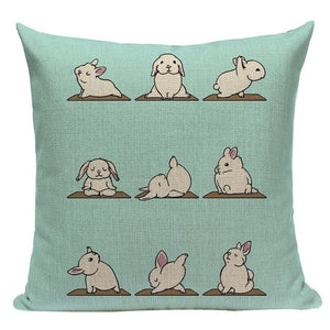 Yoga Schnauzer Cushion CoverCushion CoverOne SizeRabbit