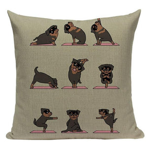 Yoga Schnauzer Cushion CoverCushion CoverOne SizeRottweiler