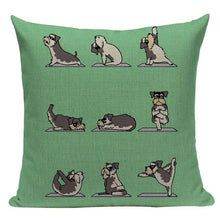 Load image into Gallery viewer, Yoga Schnauzer Cushion CoverCushion CoverOne SizeSchnauzer