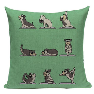Yoga Schnauzer Cushion CoverCushion CoverOne SizeSchnauzer