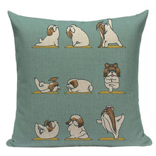 Load image into Gallery viewer, Yoga Schnauzer Cushion CoverCushion CoverOne SizeShih Tzu