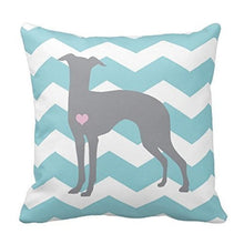 Load image into Gallery viewer, Zig Zag Whippet / Greyhound Love Cushion CoverCushion Cover