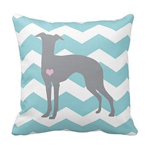 Zig Zag Whippet / Greyhound Love Cushion CoverCushion Cover
