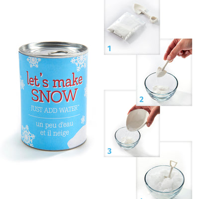 Gift Craft Tin Can with Fake Snow