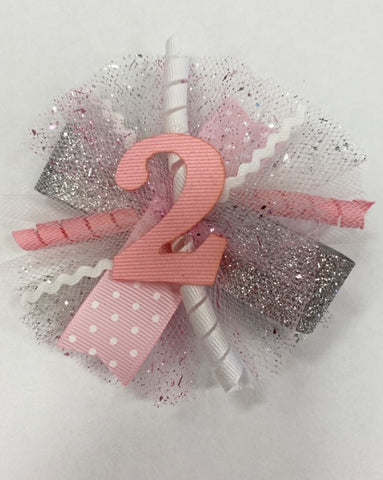 Bows for Belles Birthday Puff Clip - Assortment