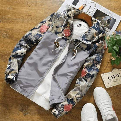 Hype Fits outerwear Gray / US XS HYPE Floral Windbreaker (4 colors)