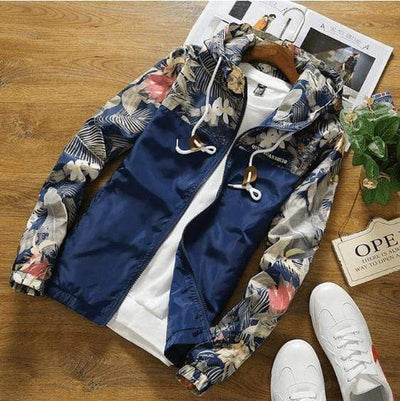 Hype Fits outerwear Navy / US XS HYPE Floral Windbreaker (4 colors)