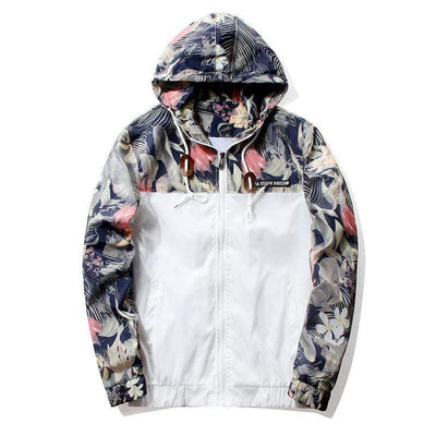 Hype Fits outerwear White / US XS HYPE Floral Windbreaker (4 colors)