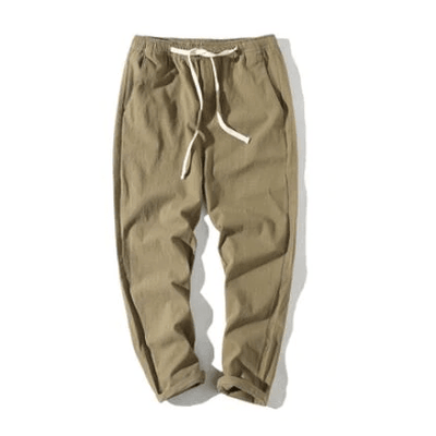 Hypest Fit Army Green / S BROOKLYN Linen Joggers