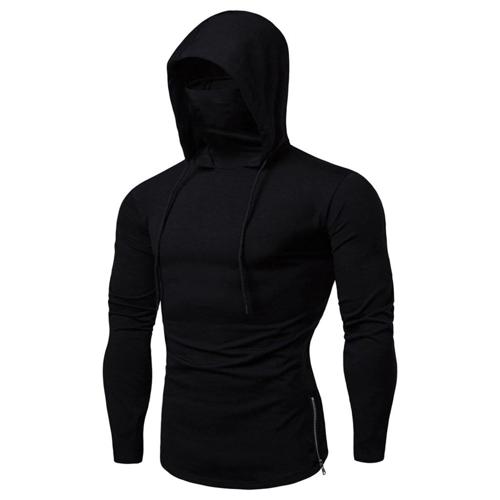 Hypest Fit Black / S SLEEVED MASK HOODIE