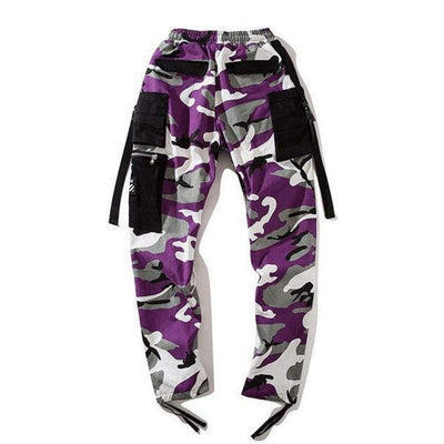 Hypest Fit bottoms 28 KRUSH Kamo Pants - PURPLE/BLACK