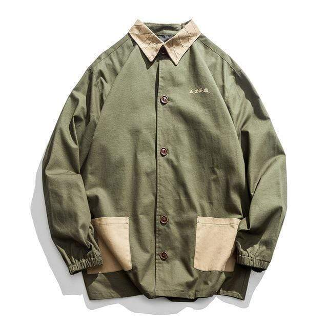 Hypest Fit Khaki Green / US S/Asian L Ancient Samurai Jacket (3 colors)