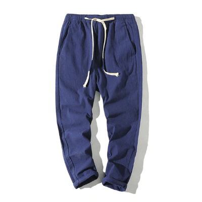 Hypest Fit Navy / S BROOKLYN Linen Joggers