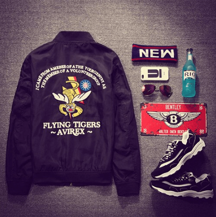 Hypest Fit outerwear Black / M FLYING TIGERS Bomber Jacket