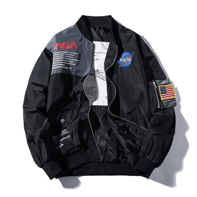 Hypest Fit outerwear BLACK / S INTERSTELLAR BOMBER JACKET