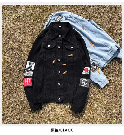 Hypest Fit outerwear Denim Cowboy Bomber Jacket