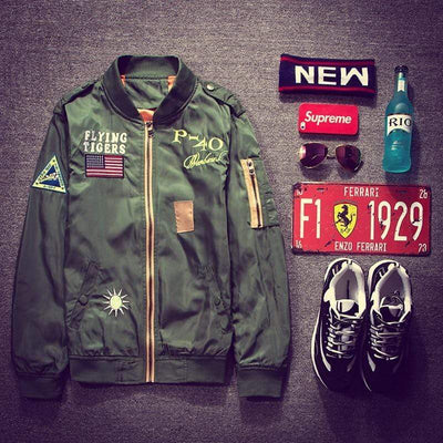 Hypest Fit outerwear FLYING TIGERS Bomber Jacket