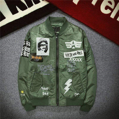 Hypest Fit outerwear Green / M ROCK n' ROLL Bomber