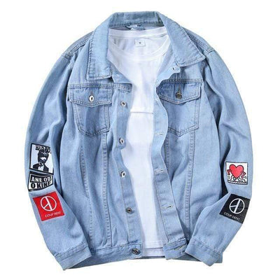 Hypest Fit outerwear Light Blue / S Denim Cowboy Bomber Jacket