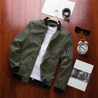 Hypest Fit outerwear MIST Casual Bomber Jacket (Green)