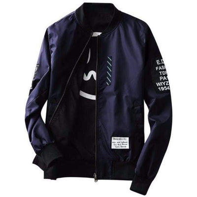Hypest Fit outerwear Navy / S LORENTZ Ribbed Reversible Bomber (4 colors)