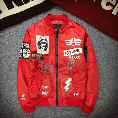 Hypest Fit outerwear Red / M ROCK n' ROLL Bomber