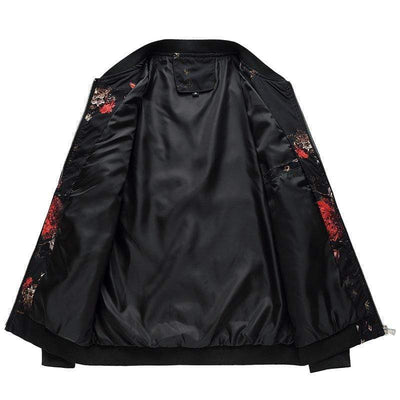 Hypest Fit outerwear Silent Forest Floral Bomber Jacket