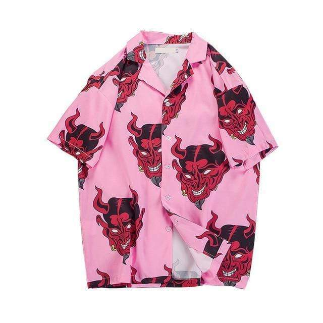 Hypest Fit Pink / M DEVIL Hawaiian T-shirt