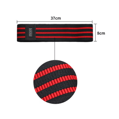 Hypest Fit Red Black Hip Circle Resistance Band