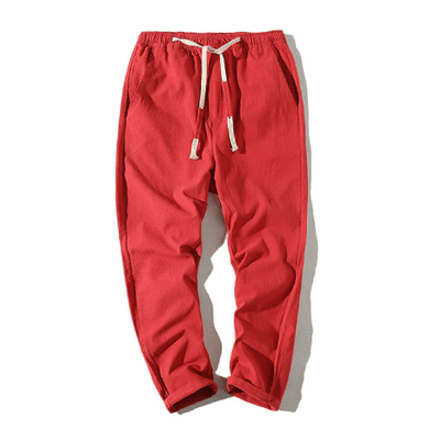 Hypest Fit Red / S BROOKLYN Linen Joggers