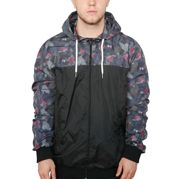 Hypest Fit S / Black HYPE Floral Windbreaker V2