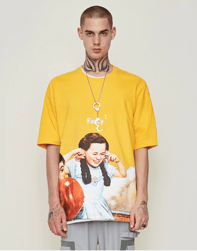 Hypest Fit top Loose M / Yellow Wonderland Tee