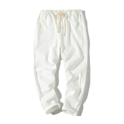 Hypest Fit White / S BROOKLYN Linen Joggers